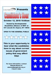 DDAWNY Presents Candidate's Hour @ DDAWNY | Depew | New York | United States