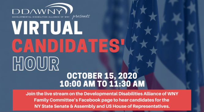 DDAWNY Virtual Candidates' Hour – Rochester/Finger Lakes